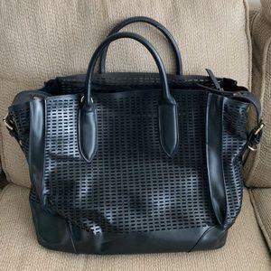 "Zara Laptop (17"" fits) leather purse"